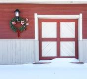 Детали света, венка и двери на историческом здании Стоковые Изображения RF