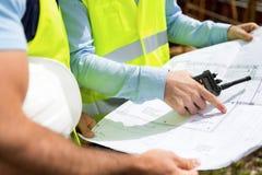 Детали светокопий на строительной площадке стоковые изображения rf