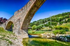 Детали средневекового моста в Италии Стоковые Изображения