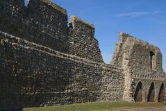 Детали стены замка Rochester в Англии Стоковые Изображения