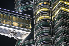 Детали Твин-Тауэрс Petronas, Куалаа-Лумпур, Малайзии Стоковые Фото