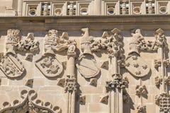 Детали фасада дворца Jabalquinto, Baeza, Испания Стоковые Фотографии RF