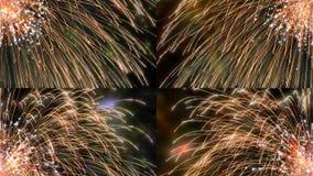 Детали фейерверка красочные Стоковые Фотографии RF