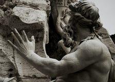 Детали фонтана Bernini в Navona придают квадратную форму Стоковые Фотографии RF