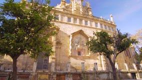 Детали церков центра города Валенсии Испании сток-видео