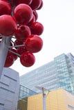 Детали экстерьера архитектурного ансамбля современного здания Стоковая Фотография RF