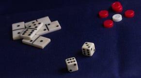 Детали для игр таблицы Стоковая Фотография