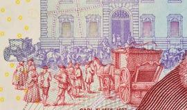 Супер макрос шведского kronor стоковое изображение rf