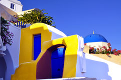 Детали Santorini Стоковое Изображение