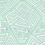 Детальная безшовная геометрическая картина в бледных ых-зелен тонах цветастая геометрическая картина Безшовная картина, предпосыл Стоковые Фотографии RF