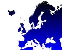 Детальная карта Европы Стоковые Изображения RF