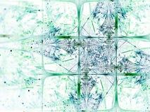 Детальная картина снежинки фрактали Стоковая Фотография