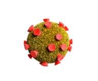 Детальная медицинская иллюстрация 3d бактерий virusesm изолировала o бесплатная иллюстрация