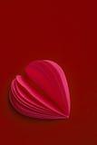 Детальное бумажное сердце Стоковая Фотография RF