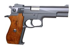 Детальное точное изолированное оружие пистолета Стоковое Фото