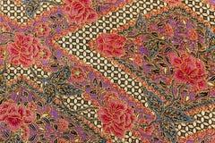 Детальные картины ткани батика Индонезии Стоковое Фото