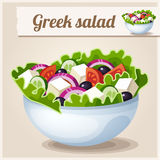 Детальный значок греческий салат бесплатная иллюстрация