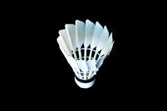 Детальный крупный план shuttlecock бадминтона Стоковые Изображения RF
