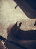 Детальный крупный план поверхности резиновой автошины Стоковая Фотография RF