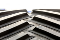Детальный крупный план поверхности резиновой автошины Стоковые Изображения