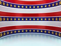Деталь американского флага этапа иллюстрация вектора