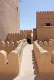 Деталь архитектуры замка форта Nizwa Стоковые Изображения RF