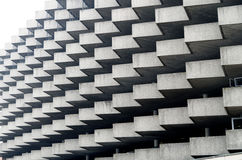 Деталь архитектуры зигзага здания автостоянки в Лугано, Швейцарии Стоковое Изображение