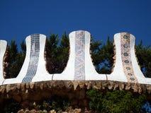 Деталь архитектуры Gaudi в парке Guell Стоковое Изображение RF