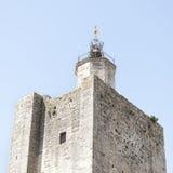 Деталь башни замка Стоковые Фото
