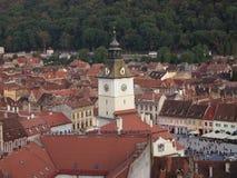 Деталь башни румынского города brasov Стоковые Фотографии RF