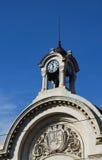 Деталь башни с часами в Софии Стоковые Изображения