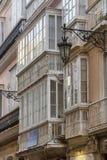 Деталь балконов и больших окон Стоковые Фото
