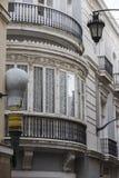 Деталь балконов и больших окон Стоковые Фотографии RF