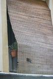 Деталь балконов и больших окон Стоковое Фото