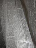 Деталь белой текстуры занавеса стоковая фотография rf