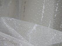 Деталь белой текстуры занавеса стоковые изображения rf