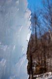 Деталь блока льда в холодном зимнем дне Стоковые Фото