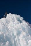 Деталь блока льда в холодном зимнем дне Стоковое Изображение RF