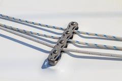 Деталь веревочки парусника стоковые изображения rf