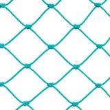 Деталь веревочки столба цели футбола футбола установленная сетчатая, новое зеленое плетение Goalnet Ropes детальное макроса карти Стоковые Фото