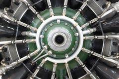 Деталь двигателя пропеллера старого воздушного судна Стоковое фото RF
