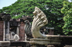 Деталь виска, парк ранга Phanom исторический стоковое изображение rf