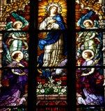 Деталь витража в Cluj Napoca Церковь St Michael Стоковое фото RF