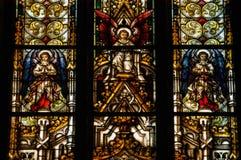Деталь витража в Cluj Napoca Церковь St Michael Стоковое Изображение RF