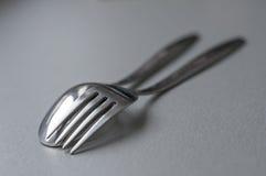 Деталь вилки и ложки Стоковые Фотографии RF
