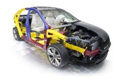 Деталь внутренней структуры современного автомобиля Стоковое Фото