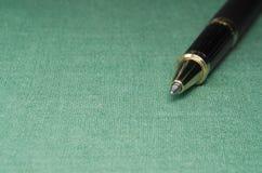 Деталь внутри backgroud ткани с ручкой и селективным фокусом Стоковое Изображение RF