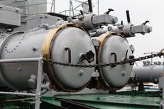 Деталь военного корабля Стоковая Фотография