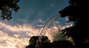 Деталь воды под заходом солнца Стоковые Фото