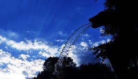 Деталь воды под заходом солнца Стоковая Фотография